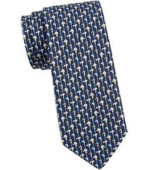 animal-print silk tie