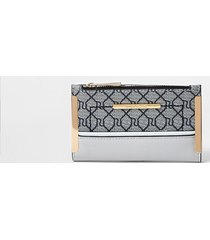 river island womens grey ri monogram mini foldout purse