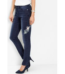 stretch jeans met borduursel