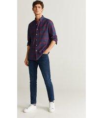 geruit flanellen regular-fit overhemd
