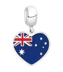 berloque bandeira da austrália de prata moments