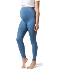 blanqi everyday maternity belly support leggings, size x-large in oil blue at nordstrom