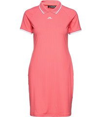 april golf dress korte jurk roze j. lindeberg golf