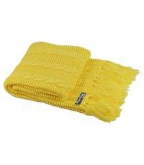 peseira com franja cama solteiro sala sofa 150cmx60cm cod 1032.8 amarelo