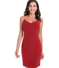 vestido lurex fiesta rojo nicopoly