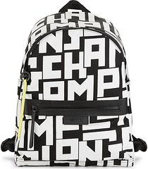 abstract logo print backpack