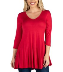 24seven comfort apparel women v neck swing tunic top