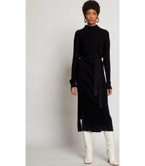 proenza schouler slouchy silk cashmere knit dress black l