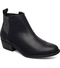 womens texas shoes boots ankle boots ankle boot - heel svart skechers
