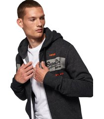 superdry heren vest sweat shirt shop magma panel zip hoodie -