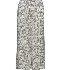 g1. printed pants wijde broek wit gant