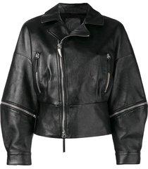 giuseppe zanotti autumn biker jacket - black