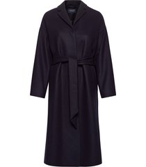 alice wool blend coat wollen jas lange jas blauw lexington clothing