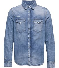 modern western shirt overhemd casual blauw calvin klein jeans