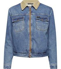 carpenter jacket jeansjack denimjack blauw wrangler
