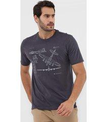 camiseta dudalina aviãµes grafite - grafite - masculino - algodã£o - dafiti