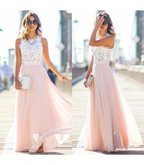new women sexy summer lace maxi long dress evening party prom dress sundress chi