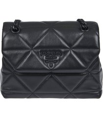 prada quilted triangle shoulder bag