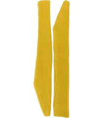 calvin klein 205w39nyc long length fingerless gloves - yellow