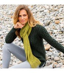 womens light green alpaca islander scarf