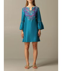 alberta ferretti dress alberta ferretti dress with embroidered inserts
