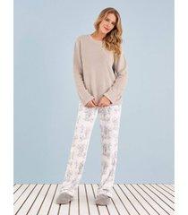 pijama any any soft cinza