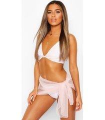 petite dobby mesh beach sarong, blush