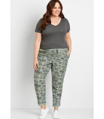maurices plus size womens camo weekender pants green