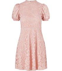 spetsklänning vililja s/s puff sleeve lace dress