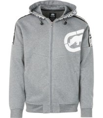 ecko unltd men's logo tape fleece hoodie