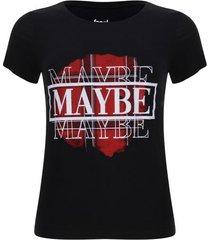 camiseta maybe color negro, talla 6