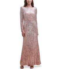 eliza j ombre sequinned gown