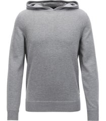 boss men's hooded sweater