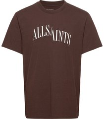 dropout ss crew t-shirts short-sleeved röd allsaints