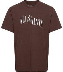 dropout ss crew t-shirts short-sleeved röd allsaints