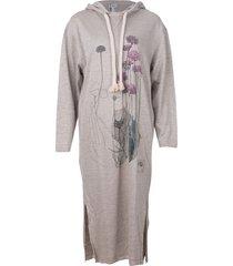 botanical hoodie dress