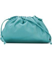 bottega veneta mini pouch clutch - blue