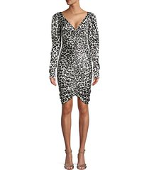 colette animal-print stretch silk dress