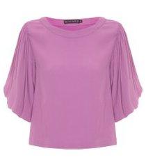 blusa feminina violeta - lilás