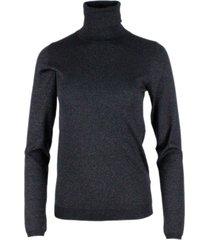 brunello cucinelli turtleneck sweater in cashmere and silk with lurex