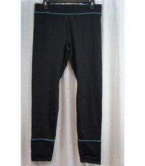jockey sport leggings sz l black blue athletic sporty stay cool leggings