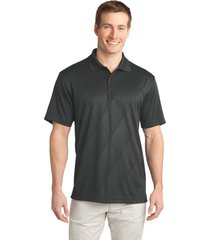 port authority k548 men's tech embossed polo shirt - graphite