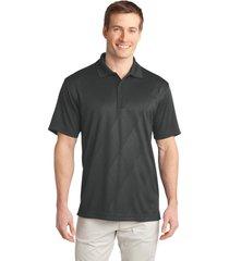 port authority k548 men's tech embossed polo shirt - graphite