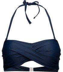 alanya bandeau bikinitop blå abecita