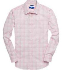 egara light pink plaid sport shirt