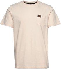 workwear pocket tee t-shirts short-sleeved creme superdry