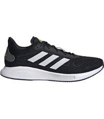 zapatilla negra adidas galaxar run