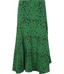 kenzo asymmetric printed skirt