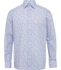 soft striped twill shirt overhemd casual blauw eton
