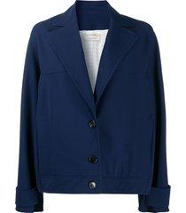 nina ricci loose-fit single-breasted jacket - blue